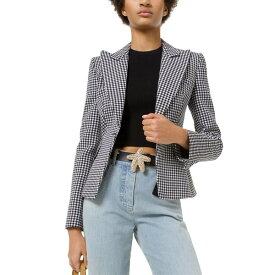 マイケル コース レディース ジャケット&ブルゾン アウター Michael Kors Collection Wool-Blend Blazer black & white