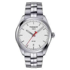 ティソット メンズ ブレスレット・バングル・アンクレット アクセサリー PR100 Bracelet Watch, 39mm Silver/ White/ Silver