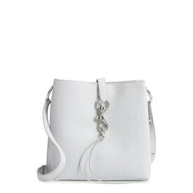 レベッカミンコフ レディース ショルダーバッグ バッグ Megan Leather Shoulder Bag ICE GREY