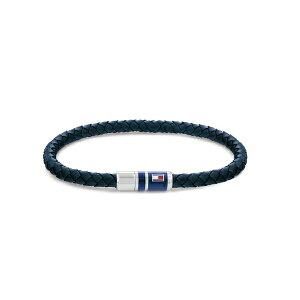 トミー ヒルフィガー メンズ ブレスレット・バングル・アンクレット アクセサリー Men's Bracelet Open Blue