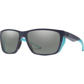 スミス メンズ サングラス・アイウェア アクセサリー Longfin Polarized Chromapop Sunglasses Matte Deep Ink/Polarized Platinum