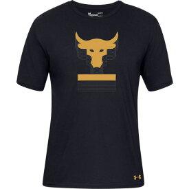 アンダーアーマー メンズ Tシャツ トップス Under Armour Men's Project Rock Above The Bar Graphic T-Shirt Black/Black