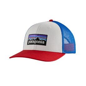パタゴニア メンズ 帽子 アクセサリー Patagonia Men's P-6 Logo Trucker Hat White