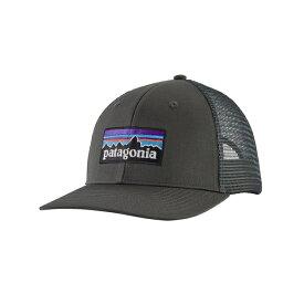 パタゴニア メンズ 帽子 アクセサリー Patagonia Men's P-6 Logo Trucker Hat ForgeGrey
