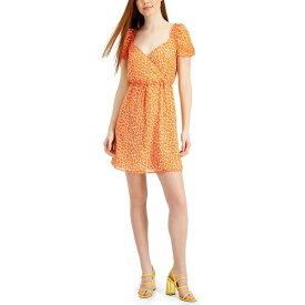 フレンチコネクション レディース ワンピース トップス Etta Kiss Print Dress Satin Slipper Neon Orange