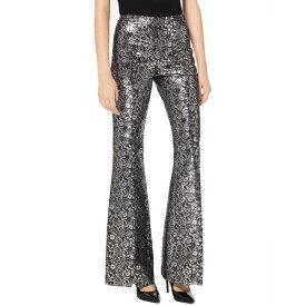 マイケル コース レディース カジュアルパンツ ボトムス Michael Kors Collection Jacquard Wool-Blend Pant silver