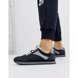 カルバンクライン メンズ スニーカー シューズ Calvin Klein Jerrold runners in black Black