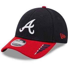 ニューエラ メンズ 帽子 アクセサリー New Era Men's Atlanta Braves 2Tone Rush 9FORTY Stretch Snapback Cap Navy