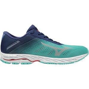 ミズノ レディース ランニング スポーツ Mizuno Women's Wave Shadow 3 Running Shoes Blue Grass/Glacier Gray