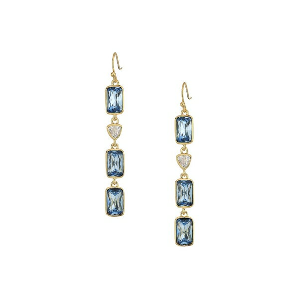 コールハーン レディース ピアス&イヤリング アクセサリー Multi Drop Linear Earrings Gold/Clear Cubic Zirconia/Blue London Spinel Glass Stone
