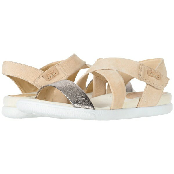 エコー レディース サンダル シューズ Damara Crisscross Sandal Warm Grey/Powder Cow Leather/Cow Nubuck
