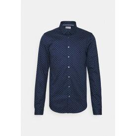 カルバン クライン テイラード メンズ シャツ トップス NATURAL EXTRA SLIM - Formal shirt - navy