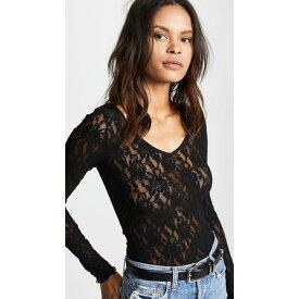 ハンキーパンキー レディース シャツ トップス Signature Lace Unlined Reversible Top Black