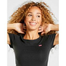 リーバイス レディース Tシャツ トップス Levis Slim T-Shirt 2 Pack black