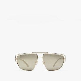 ヴェルサーチ メンズ サングラス・アイウェア アクセサリー VE2202 Pale Gold/Light Brown Mirror/Dark Gold