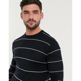 フレンチコネクション メンズ ニット&セーター アウター French Connection stripe knit sweater Marine