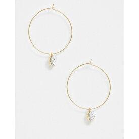 フレンチコネクション レディース ピアス&イヤリング アクセサリー French Connection gold hoops with charm Gold