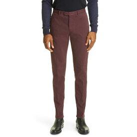 ボリオリ メンズ カジュアルパンツ ボトムス Garment Dyed Stretch Cotton Pants DEEP BURGUNDY