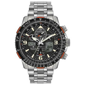 シチズン レディース 腕時計 アクセサリー Eco-Drive Men's Analog-Digital Promaster Skyhawk A-T Titanium Bracelet Watch 45mm Stainless Steel