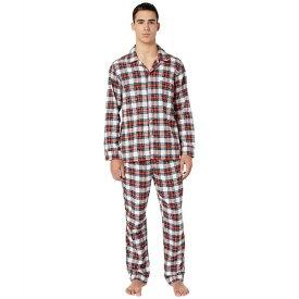 ジェイクルー メンズ ナイトウェア アンダーウェア Flannel Pajama Set in Snowy Stewart Tartan Red/Navy Plaid
