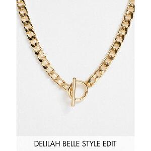 エイソス レディース ネックレス・チョーカー・ペンダントトップ アクセサリー ASOS DESIGN necklace with t bar and curb chain in gold tone Gold