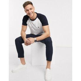 フレンチコネクション メンズ Tシャツ トップス French Connection raglan t-shirt White marine