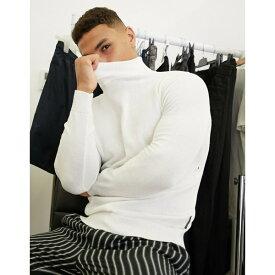 フレンチコネクション メンズ ニット&セーター アウター French Connection 100% cotton roll neck sweater in white White