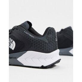 ノースフェイス メンズ スニーカー シューズ The North Face Flight Trinity sneaker in black Dark shadow gray
