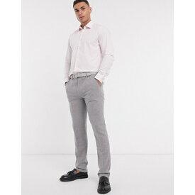 フレンチコネクション メンズ シャツ トップス French Connection slim fit poplin shirt Pink