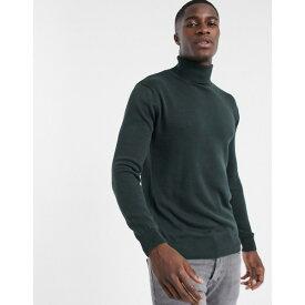 フレンチコネクション メンズ ニット&セーター アウター French Connection roll neck sweater in dark green Dark green