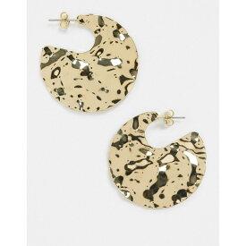 フレンチコネクション レディース ピアス&イヤリング アクセサリー French Connection molten gold earrings Gold