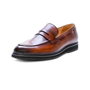 アイクベーハー メンズ スリッポン・ローファー シューズ Men's Hybrid Loafer Open Brown