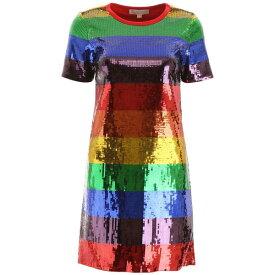 マイケルコース レディース ワンピース トップス MICHAEL Michael Kors Multicolor Sequin Mini Dress RAINBOWMULTIYellow