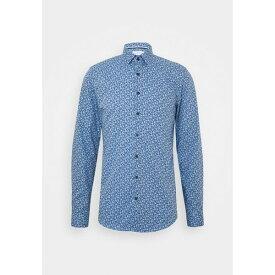 カルバン クライン テイラード メンズ シャツ トップス FLOWER PRINT - Formal shirt - blue zyfc017f