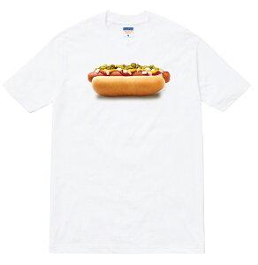 HOTDOG teeシャツ/三色展開 半袖 メンズ レディース ブランド ストリート ホットドッグ ソーセージ アメリカン 食べ物 ジャンクフード ハンバーガー ウインナー ケチャップ マスタード ピクル