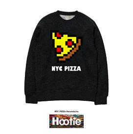NYC PIZZA SWEAT ストリート ブランド スケーター SK8 DOT ドット GAME テレビゲーム ドット柄 NYC new york ジャンクフード JUNK FOOD ファッション cafe カフェ フライドポテト 名言 デザイン ダイアモンド トレーナー ピザ ファミコン ボア スウェット