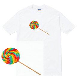 LOLLIPOP Tシャツ lollipop ロリポップ キャンディ 飴 アメ ぺろぺろ お菓子 スウィーツ おしゃれ かわいい 人気 デザート カラフル ファンシー ストリート メンズ レディース ブランド tee tシャツ