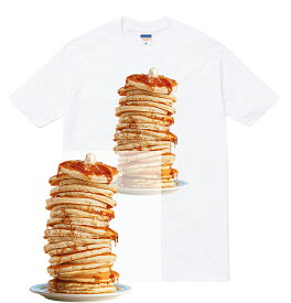 PANCAKE tシャツ 半袖 パンケーキ ホットケーキ デカ盛り デザート スイーツ 食べ物 ケーキ シロップ メイプル メンズ レディース ダンス 衣装 ストリート hiphop ブランド tee Tシャツ