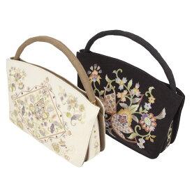 【あす楽】皇室ご愛用 京老舗岡重謹製「OKAJIMA」シルクハンドバッグ [商品番号bag1558] 【あすかや】