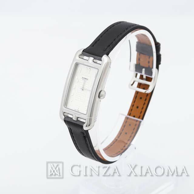 《新品》HERMES エルメス ナンタケット ミニ NA2.210 SS ヴォーバレニア ブラック 黒【新品】 レディース ウォッチ 腕時計