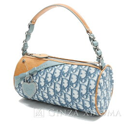 e65d2fd08451 Christian Dior kurisuchandiorutorottakyambasu 皮革藍色手提包