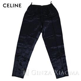 【ポイント3倍】【未使用】CELINE セリーヌ パンツ レーヨン ネイビー サイズ38 メンズ 中古