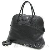 【中古】HERMESエルメスボリード35トリヨンクレマンスブラックシルバー金具I刻印ハンドバッグ