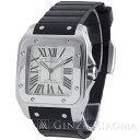 【中古】 Cartier カルティエ サントス100 LM SS×ラバー AT W20076X8 メンズ 腕時計 mns