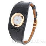 【中古】HERMESエルメスFG2.170フォーブルマンシェットPMK18PGアリゲーターT刻印QZ1Pダイヤレディース腕時計
