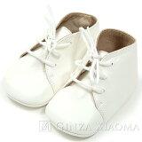 【新品同様】HERMESエルメスベビーシューズレザーホワイト靴mns