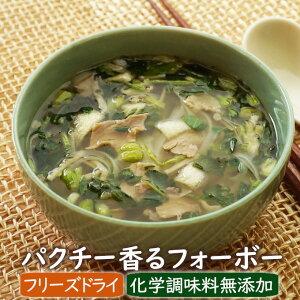 【数量限定】パクチー香るフォーボー(2食) 化学調味料無添加 米麺付きスープ ベトナム フリーズドライ製法 アスザックフーズ