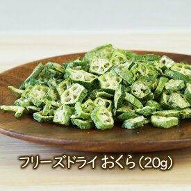 乾燥野菜 フリーズドライ野菜 フリーズドライ おくら(20g)乾燥オクラ 味噌汁や和え物に 乾燥野菜のアスザックフーズ