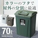 ゴミ箱 ごみ箱 ダストボックス【あす楽】分別 ダストボックスSPハンドルペール 70L