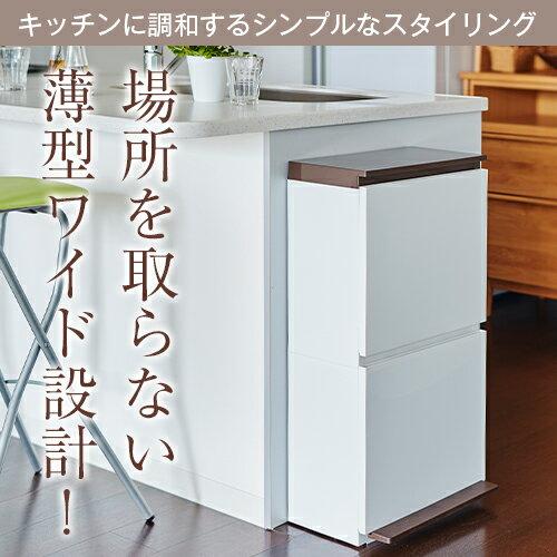 ゴミ箱 ごみ箱分別 ペダル 2段 ワイド 40L